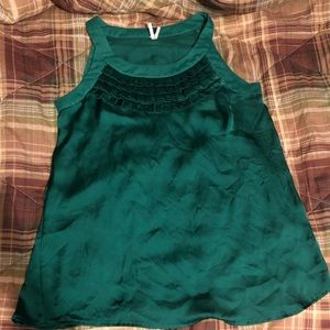 Tops - Green dressy shirt